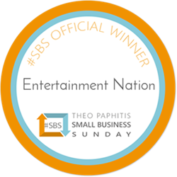 Badge for Small Business Sunday Winners Entertainment Nation
