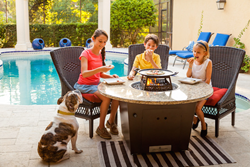 fire pit table, firetainment, las vegas furniture market