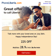 22% OFF on International Calls to Mobiles in Liberia on July 26th with PhoneLiberia.com