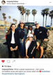 Joely Fisher social media post with family at Venice Beach Relief Kit project
