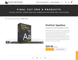 ProFont Typeface - Pixel Film Studios Plugin - FCPX