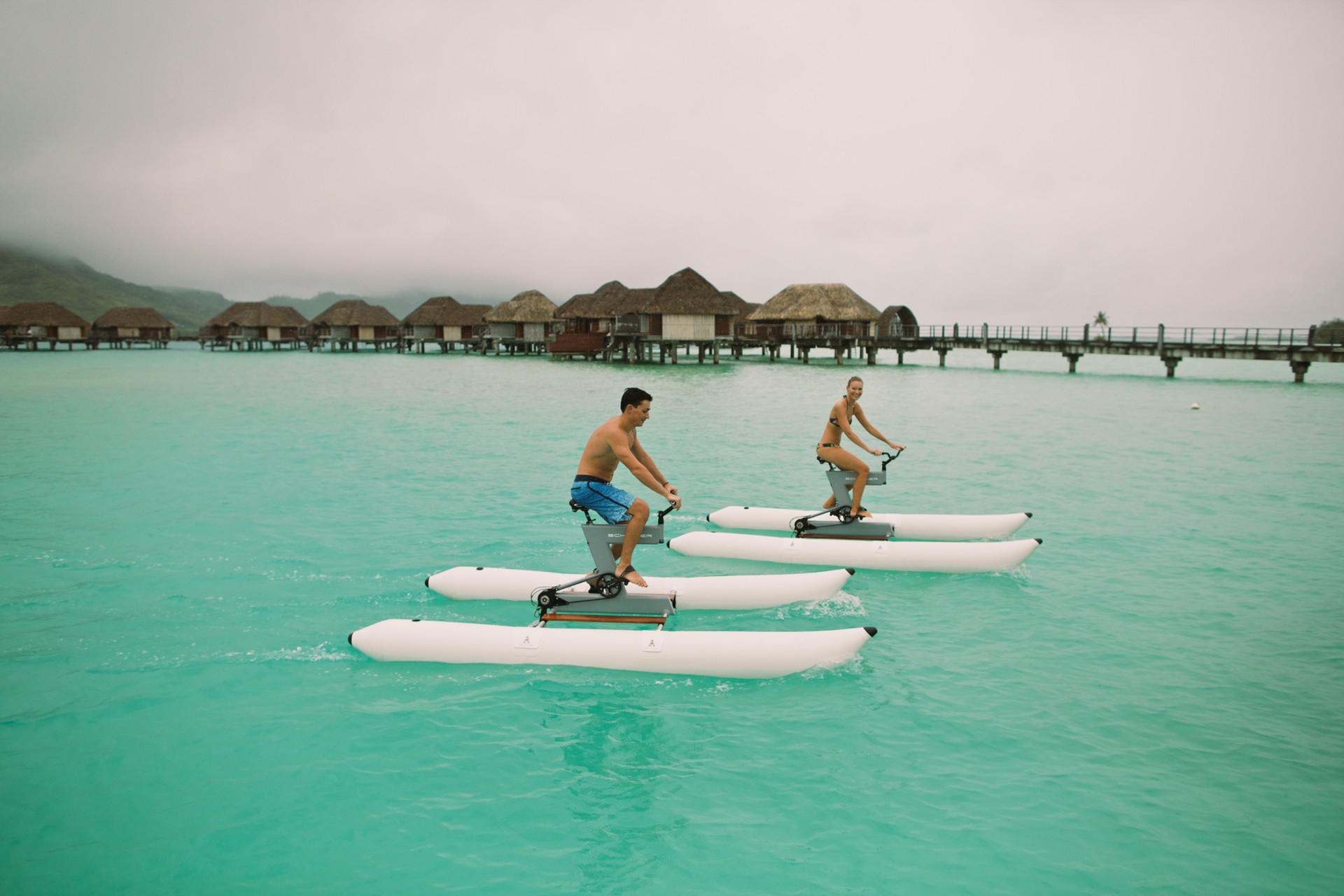 Bora Bora Vacations >> New Floating Water Bikes Expand Goway's Range of Tahiti Vacations