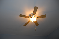 Operate ceiling fans in a counter-clockwise direction.