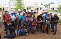 Zunesis Team at Habitat's build site 2016
