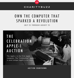 Charitybuzz auctions Celebration Apple-1 Auction