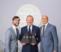 Nathan Lump, Brett Tollman and Joseph Messer at the Travel + Leisure World's Best Awards in NYC on July 20, 2016