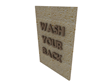 It is not a brush but is similar to a rubber mat with bristles that can be used for scrubbing.
