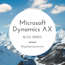 Microsoft Dynamics AX Blog Series Presented by SBS Group