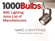 WAC Lighting Joins 1000Bulbs.com's List of Manufacturers