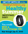 HealthyChildren.org Gives Away Fitbit Charge HR Activity Wristbands in Healthy Summer Sweepstakes Event
