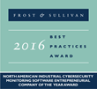 NexDefense Named 2016 Entrepreneurial Company of the Year in the Industrial Cybersecurity Monitoring Software Market by Frost & Sullivan