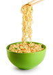 The water can easily be drained when the noodles are ready.