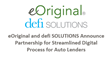 eOriginal and defi SOLUTIONS Announce Partnership for Streamlined Digital Process for Auto Lenders
