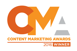 The Content Marketing Institute Awards DemandLab a 2016 Content Marketing Award for Interactive Content Piece