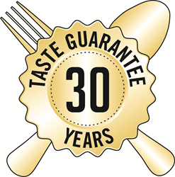 Mountain House 30-year Taste Guarantee seal