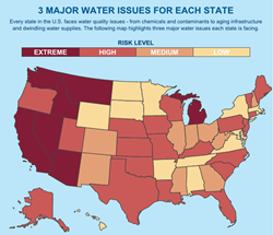 Pelican Water Creates Online Tool To Gauge Water Quality Risks By - Map of water quality in us
