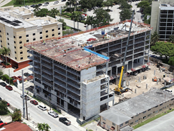 florida hotel, miami, hotel construction, towneplace suites, marriott