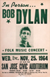 Avid Collector Announces His Search for Vintage 1964 Bob Dylan San Jose Civic Auditorium Concert Posters