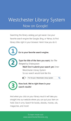 Searching Made Easier - Westchester Library System Catalog Now Searchable on Popular Search Engines
