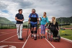 Ekso Exoskeleton, Race2walk2016, Bridging Bionics, Amanda Boxtel, Malibu Kelly Hayes