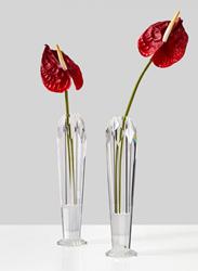Faceted Crystal Taper Vase