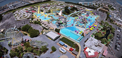 Aerial View of Jolly Roger Amusement Park in Ocean City, MD