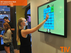 T1V Interactive Wall at Zablong Pizza