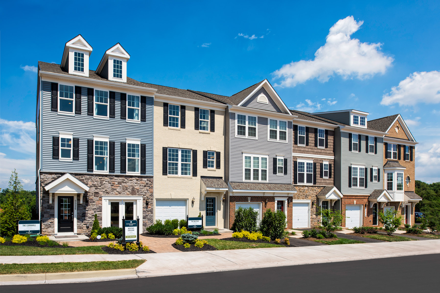 Stanley martin homes introduces new section of townhomes for Builders in va