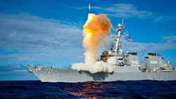 The USS Hopper (DDG 70) launches a standard missile (SM) 3 Blk IA, successfully intercepting a sub-scale short range ballistic missile, launched from the Kauai Test Facility, Pacific Missile Range Facility (PMRF), Barking Sans, Kauai. (U.S. Navy photo/Rel