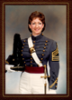 Author Laurel McHargue as a cadet at West Point
