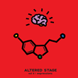 The mood-boosting serotonin molecule highlights the Altered Stage Vol. 2: Expressions Album Cover