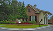 The gated entrance to Forest Lakes in Pooler, GA