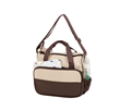 It is a large wearable diaper bag with many pockets and compartments for all the items the baby may need.