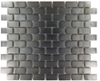 Small Brick Pattern in Brushed Black