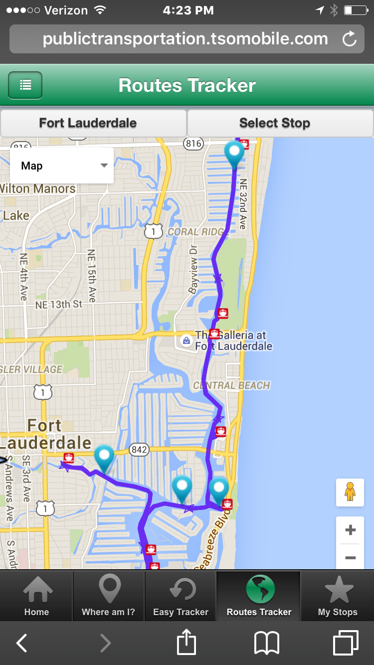 Fort Lauderdale Water Taxi Launches New GPS Tracking App to