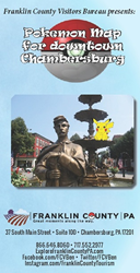 Get Up and Go with Franklin County Visitors Bureau's PokeMap of downtown Chambersburg