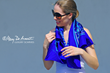 blue silk square scarf scarves luxury accessory luxe gift custom designs fashion designer mary DeArment