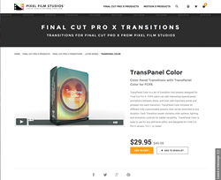 Pixel Film Studios Released TransPanel Color for Final Cut Pro X