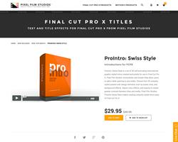 Pixel Film Studios Plugin - ProIntro Swiss Style - FCPX