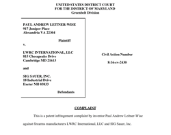 Sig and LWRC sued by Paul Leitner-Wise