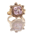 Petals. 4.39ct. Morganite, 18K yellow gold and white diamond ring by Audrius Krulis