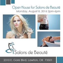 Salons de Beauté Open House Invitation