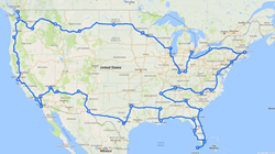 Valeo U.S. Hands-Off Road Trip, 13,000  miles and 30 cities.