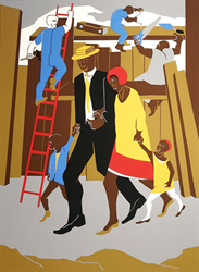 "Jacob Lawrence ""The Builders"" Stella Jones Gallery"