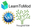 LearnToMod, ThoughtSTEM, and National Science Foundation Logos