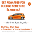 Beneficial State Bank is Giving Away a Fuel-Efficient Vehicle to an Individual Building Something Beautiful