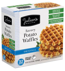 Julian's Recipe Savory Potato Waffles with GrandFusion NutriFusion Natural Vitamins