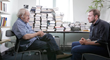 Eric Axelman Sitting with and Interviewing Noam Chomsky for an upcoming Documentary Film Eric Axelman is Directing