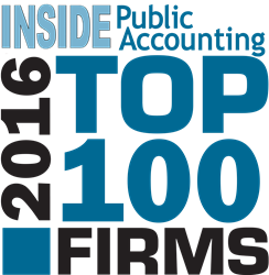 PYA, a national certified management consulting and accounting firm, is pleased to share it has been ranked as a 2016 Top 100 Firm as recognized by INSIDE Public Accounting (IPA).  This distinction signifies PYA's continued growth and commitment to the in