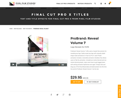 ProBrand Reveal Volume 7 - FCPX Plugin - Pixel Film Studios